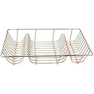 Apollo Housewares Dish Drainer, Copper 10 x 33 x 48 cm