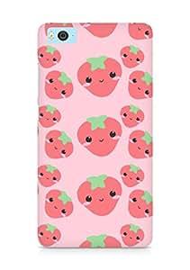 Amez designer printed 3d premium high quality back case cover for Xiaomi Mi5 (cute strawberries expressions)