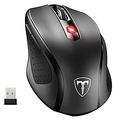 Wireless Mouse, [Hot Sales Version] Pictek 2.4G USB Cordless Mouse Computer Mouse PC Mouse Laptop Mouse Optical Mice with Nano Receiver, 6 Buttons, 2400 DPI 5 Adjustment Levels,18 Month Battery Life, Auto Sleeping for Windows 7/8/10/XP, Vista 7/8, Mac and Linux - Durable Version
