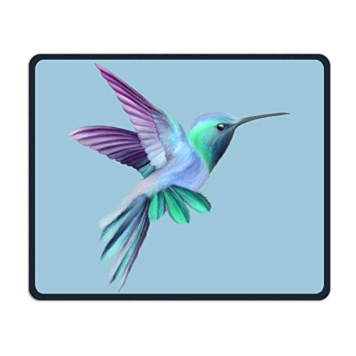 Deglogse Gaming-Mauspad-Matte, Smooth Mouse Pad Purple-Blue Hummingbird Mobile Gaming Mousepad Work Mouse Pad Office Pad -