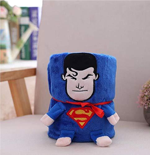 Spacetouch Avengers Superhelden-Überwurf, tragbar, niedlich, Fleece, aufrollbare Reisedecke für Baby, Kinder, Jungen, Größe 82,3 x 70,6 cm (Super Man)