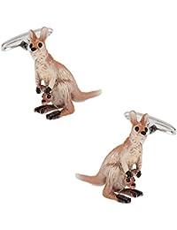Painted Kangaroo Cufflinks in Presentation Box