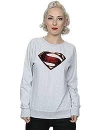 DC Comics Women's Justice League Movie Superman Emblem Sweatshirt