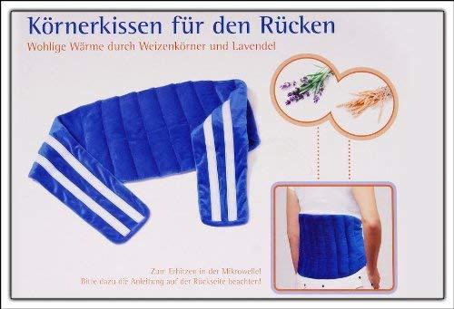 XXL Körnerkissen mit Weizenkörnern und Lavendel - Ideal auch für den Rücken - Nacken Körnerkissen zum umhängen Rückenkissen Klattverschluss