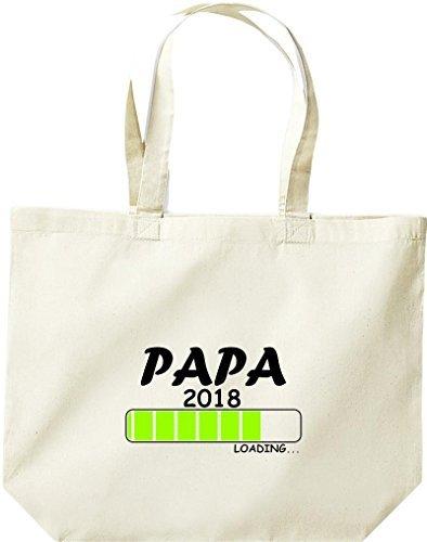 ShirtInStyle grosse Einkaufstasche PAPA 2018 Loading Geburt Geschenk Natur
