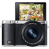 Samsung NX3000 Smart Systemkamera (20,3 Megapixel, 7,5 cm (3 Zoll) Display, Full HD Video, WIFi, NFC, Adobe Photoshop Lightroom 5, inkl. 16-50 mm OIS i-Function Power-Zoom-Objektiv) schwarz