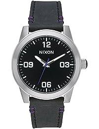 Nixon Damen-Armbanduhr Analog Quarz Leder A933000