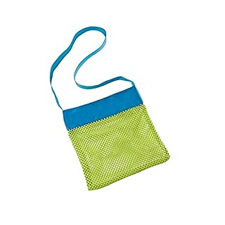 ALLtree Children's Kids Shoulder Beach Bag for Shell Toys Collecting (Green) 24 x 24 cm