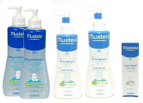 Mustela Mustela Creme Hydra - Mustela Physiobébé 2x500ml + Dermonettoyant 2x500ml +