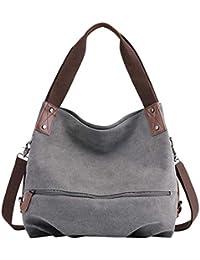 6d6506aa01501 PB-SOAR Damen Modern Canvas Schultertasche Umhängetasche Shopper Handtasche  Henkeltasche Hobo Bag Beuteltasche