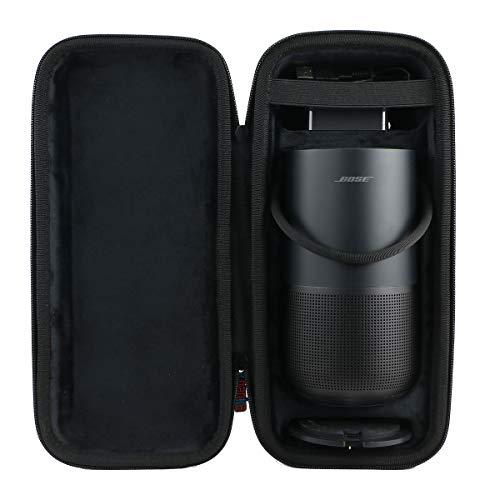 Khanka Dur Cas étui de Voyage Housse Porter pour Bose Portable Home Speaker (Square-Black Lining)