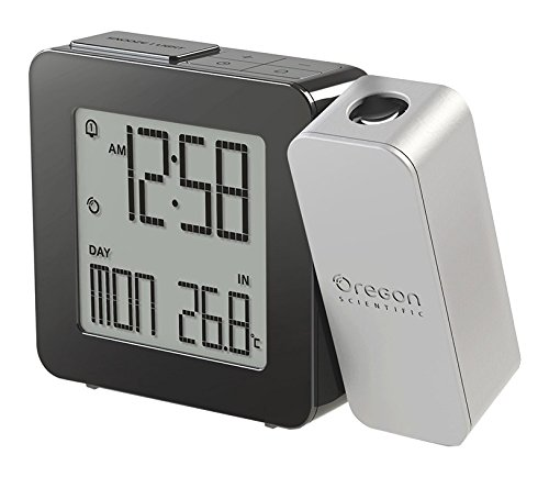 Oregon Scientific RM338P - Reloj Despertador Proyector con Temperatura Interior (Digital, AA, Negro, Gris)