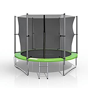 gympatec xl trampolin 244 cm gartentrampolin komplettset mit netz innenliegend leiter erdanker. Black Bedroom Furniture Sets. Home Design Ideas