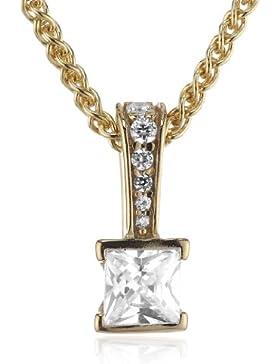 Esprit Jewels Damen-Halskette mit Anhänger Solitaire Gold ESNL92194B420