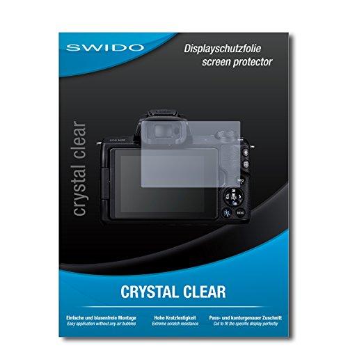 Pellicola Protettiva per Display per CANON EOS M50[2pezzi] SWIDO di cristallo trasparente, alta durezza, montaggio senza bolle, protegge da olio, Polvere, impronte digitali e graffi/Schermo, Pellicola protettiva, Pellicola di protezione schermo pellicola di vetro temperato,