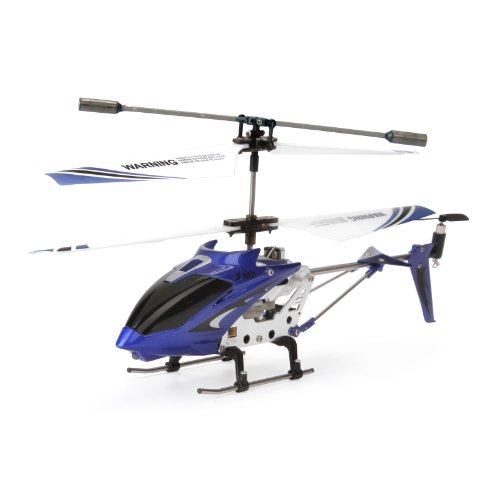 Syma S107G - Remote control helicopter (3,5 channels, with rotation), blue color