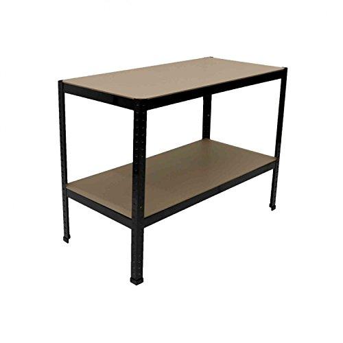 Oypla industrielle Heavy Duty Stahl Werktisch Tisch Regal Garage Shed