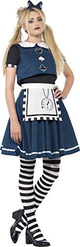 (Smiffys 44343S - Dark Day Dreamer Kostüm mit Schichtenkleid und Stirnband)