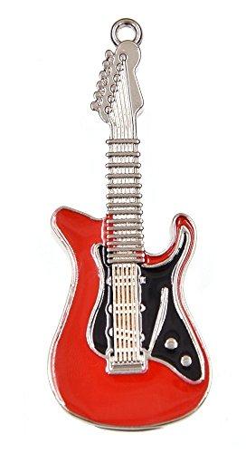 FEBNISCTE 16GB Pen Drive Metal Guitarra Forma Llaves USB 2.0 Regalo (Rojo)