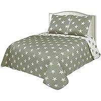 Colcha Boutí Reversible+Cuadrantes Estrellas (1750, 180x260+1 cuadrante (para cama