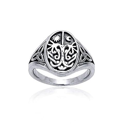 Bling Jewelry Argent Sterling Celtic Arbre de Vie anneau