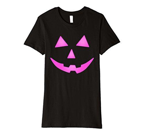 Rosa Halloween-Kürbislaterne Halloween-Kostüm T-Shirt Frauen -