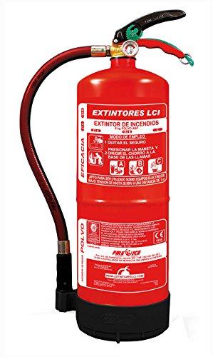 EXTINTOR ALTA EFICACIA 6KG INCLUYE SOPORTE PARED Y SEÑAL FOTOLUMINISCENTE A4 210x297 mm