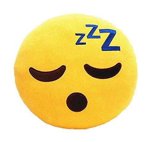 Xiton Kreative Emoji Smiley-Kissen weich Kuschelkissen Yellow Runde Kissen