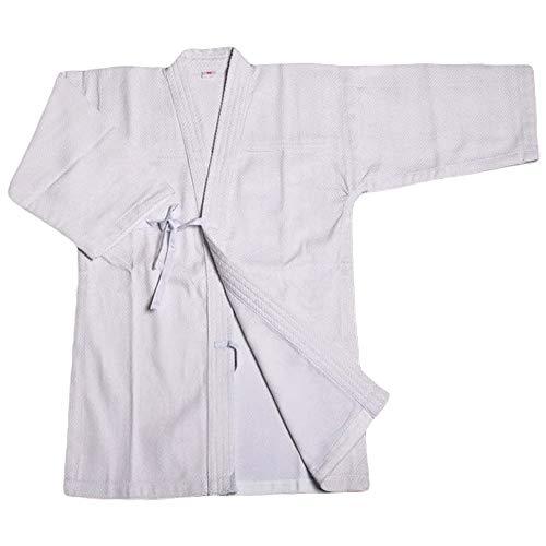 G-like Kendo Kenjutsu Uniform - Traditionelle Japanische Schwertkampfkunst Kostüm Karate Ninja Aikido Training Kleidung Keikogi Jacke Hakama Hose für Männer Frauen (Weiß, M)