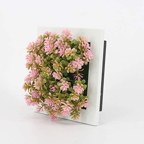 yk decorate 3d appeso a parete artificiale fiore finto succulente bonsai giardino verticale appeso cornice decorazione della casa,d