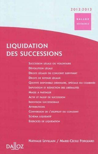 Liquidation des successions de Nathalie Levillain (2011) Reli
