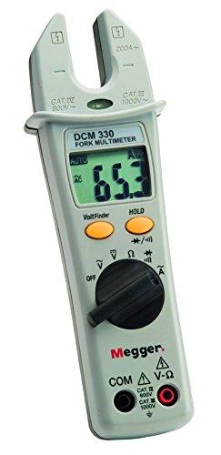 Megger 1000-219 DCM330 Gabel-Stromzange,  Messbereich bis 200 A (AC), Spannungsbereich 200V-1000V (AC/DC), Widerstandsbereich 0,1