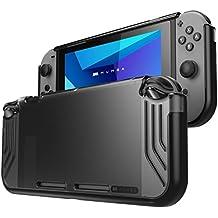 Carcasa Mumba Para Nintendo Switch [Slimfit Series] Carcasa Delgada Híbrida para Nintendo Switch version 2017 (negro)