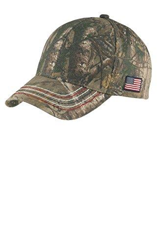 Port Authority® Americana Contrast Stitch Camouflage Cap. C909 Realtree Xtra Port Authority Classic Cap