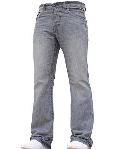 FB Jeans Men/'s Designer Regular Fit Boot Cut Jeans w//Free Belt BNWT