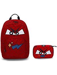 aecdda6d81 invicta Zaino Ollie Pack Face + PORTAPENNE - Fiesta Red Rosso - Tasca Porta  pc Padded