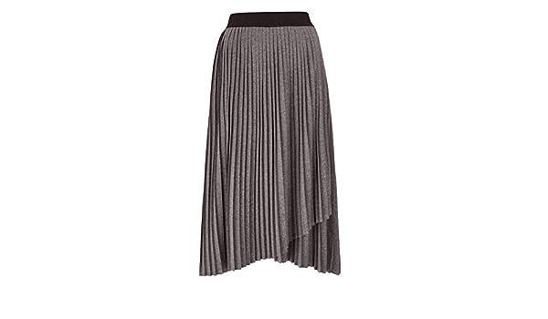 Womens Pleated Stretch Jersey Asymmetric Hem Skirt JD Williams