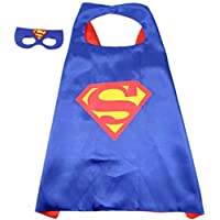 Double sided Kids Superman Top Costume with mask and cape, 4-8 years Kids Boys Parties Festival Costume, Justice League superhero Costume