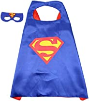 Double sided Kids Superman Top Costume with mask and cape, 4-8 years Kids Boys Parties Festival Costume, Justi