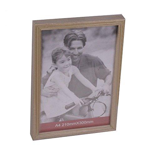 Koopman International C37889560 Bilderrahmen, 32x23cm, Holz, für Fotos 21x30cm, braun (1 Stück)