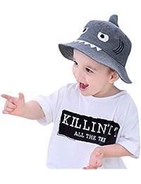 ODJOY-FAN-bambino cartone animato squalo stampa cappello da sole Cappello  pescatore-Bambino 1b8c582a4bf3