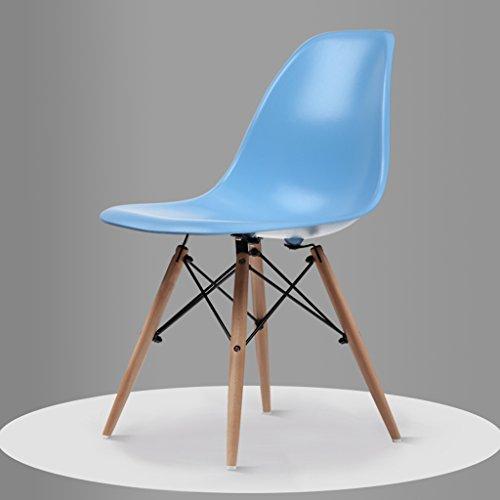 PLL Einfache Freizeit Möbel Restaurant Stühle Startseite Kreative Stuhl Zurück Nordic Stühle (Color : Blue)