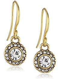 Pilgrim Jewelry Classic - Pendientes de latón con cristal con cierre de gancho