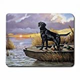 Gaming Mousepad, Black Lab Labor Retriever Hund Jäger Computer PC Mauspad Mousepad Neu!