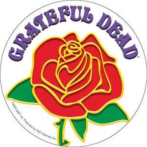 GRATEFUL DEAD Rose w/ Logo Clear, Officially Licensed Original GDP Inc., Artwork, 4