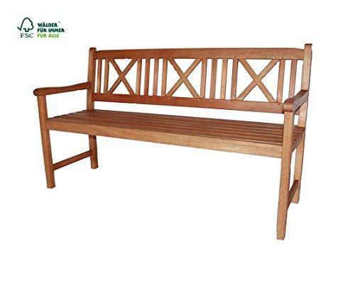 SAM 3-Sitzer Gartenbank Mykonos, Akazien-Holz geölt, FSC 100% zertifiziert, Holzbank, massives Garten- & Balkonmöbel