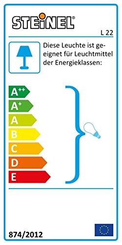Steinel Außenleuchte L 22 - Wandlampe, 180° Bewegungsmelder, schwenkbar, 10 m Reichweite, Edelstahlblende, 60 Watt, E27, 28,6 x 16,2 x 8,5 cm [Energieklasse A+], 009816
