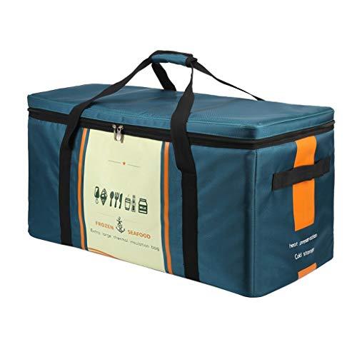 UCYG Groß wasserdichte Kühltasche Isoliertasche Picknickkorb für Männer und Frauen Kinder, tragbare Pack Lunch Tasche Box für Picknick, Camping, Auto, 50L, 70L, 94L, Dunkelgrün (Kapazität : 70L)