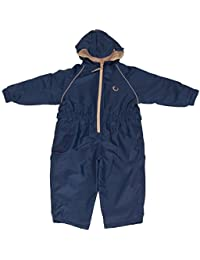 Hippychick Fleece Lined Waterproof All-in-One Suit - Navy/Sand, 2-3 Years