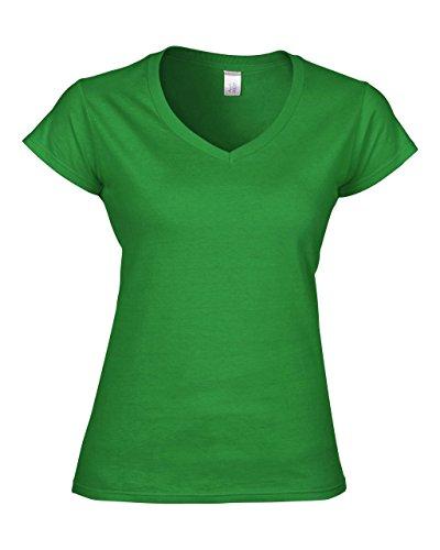 Gildan: Ladies` Softstyle® V-Neck T-Shirt 64V00L, Größe:XL;Farbe:Irish Green (T-shirt Womens Besser V-neck)